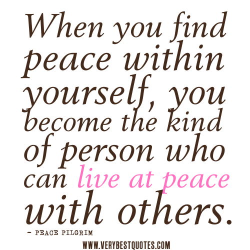 Quotes About Peace And Happiness Fair Permanent Peace  Sacred Journey Of The Heart