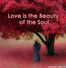 a love is the beauty of the soul