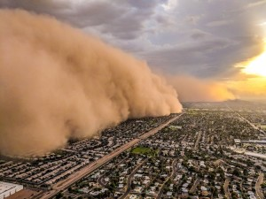 During Aug-Sept in AZ we have dust storms called HAboobs!